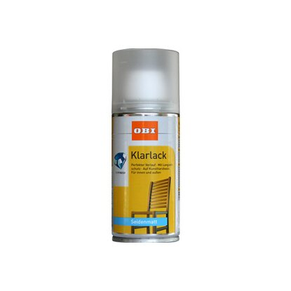 OBI Klarlack Spray Transparent seidenmatt 150 ml