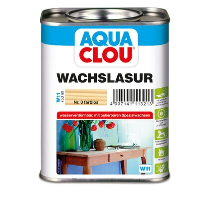 Aqua Clou Wachslasur Transparent 750 ml