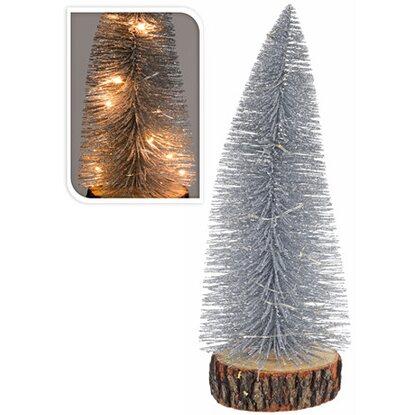 k nstlicher weihnachtsbaum auf sockel 28 cm mit led. Black Bedroom Furniture Sets. Home Design Ideas