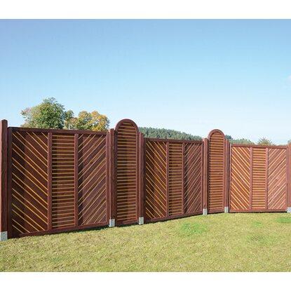 sichtschutzzaun element scm primula mit kronenbogen 180 cm. Black Bedroom Furniture Sets. Home Design Ideas