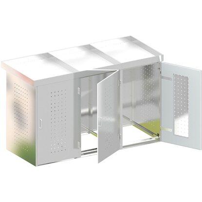 m lltonnenbox binto 3 edelstahl 3er box mit pflanzschale kaufen bei obi. Black Bedroom Furniture Sets. Home Design Ideas