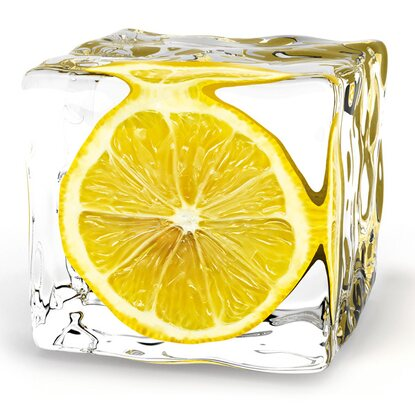 Eurographics Deco Glass Iced Lemon 50 cm x 50 cm