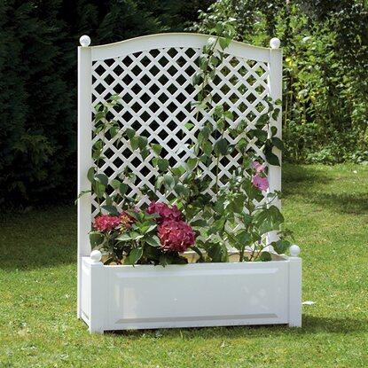khw pflanzkasten gro mit spalier wei kaufen bei obi. Black Bedroom Furniture Sets. Home Design Ideas