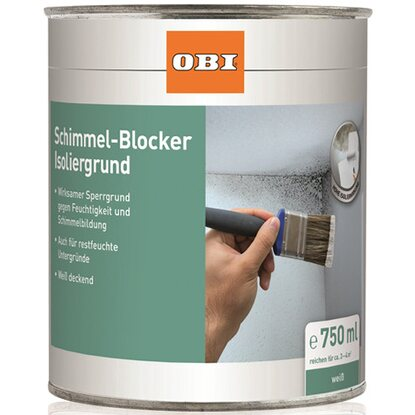 OBI Schimmel-Blocker Isoliergrund Weiß matt 750 ml
