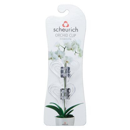 Scheurich Orchideen-Clips Transparent