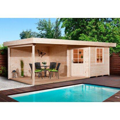 weka holz gartenhaus san remo a natur541 cm x 238 cm. Black Bedroom Furniture Sets. Home Design Ideas