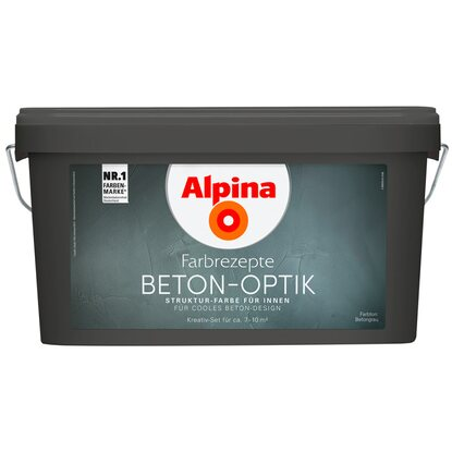 alpina farbrezepte beton optik komplett set kaufen bei obi. Black Bedroom Furniture Sets. Home Design Ideas