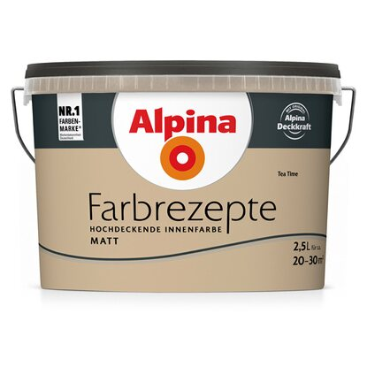 Alpina Farbrezepte Tea Time matt 2,5 l