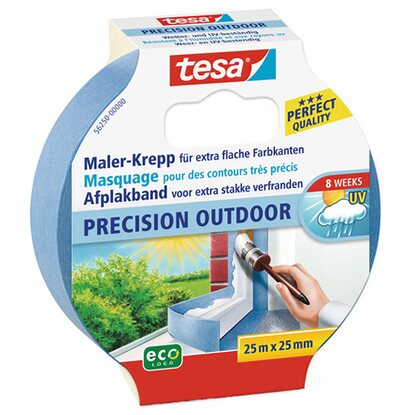Tesa Maler-Krepp Precision Outdoor Blau 25 m x 25 mm