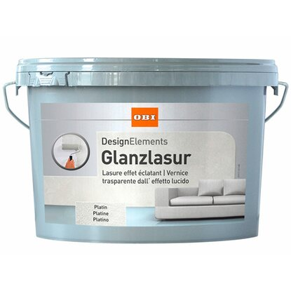 OBI Design Elements Glanzlasur Platin 1 l