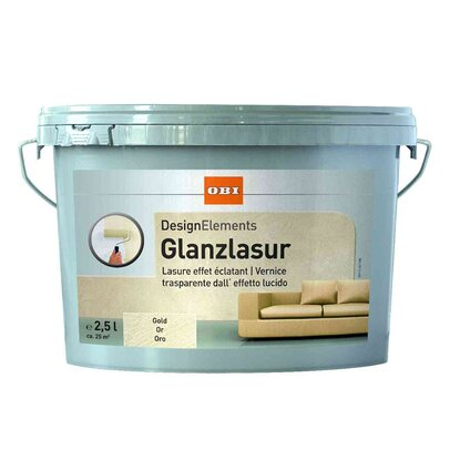 OBI Design Elements Glanzlasur Gold 2,5 l