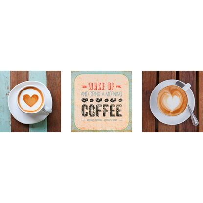 Eurographics Wandtattoo 3er-Set Vintage Cafe