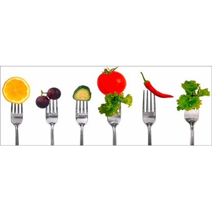 Eurographics Deco Glass Pierced Vegetables 30 cm x 80 cm