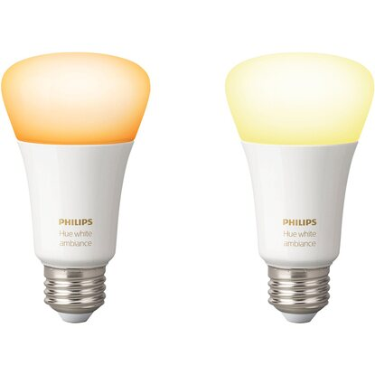 Philips Hue White Ambiance LED-Lampe 3er-Set E27/9,5 W EEK: A+