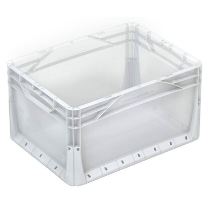 OBI Eurobox-System Tauro Box Vollwand 60 x 40 x 32 cm Transparent