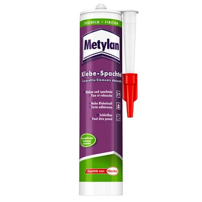 Metylan Klebe-Spachtel Zierprofile Weiß 300 ml