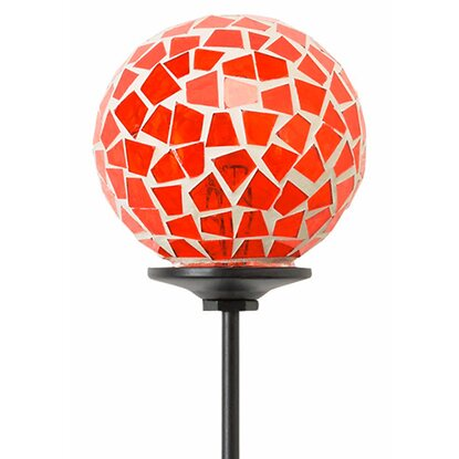 Garten-Kugelstecker Mosaik 75 cm Orange