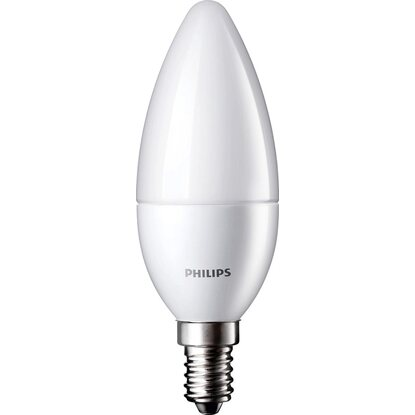 Philips LED-Lampe Kerzenform E14 / 6 W (470 lm) Warmweiß 2er-Pack EEK: A