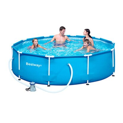 Bestway stahlrahmen swimming pool set 305 cm x 76 cm for Obi pool set
