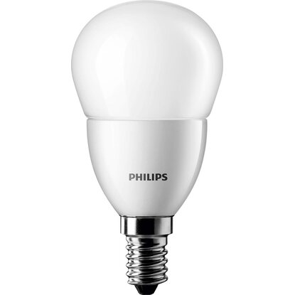Philips LED-Lampe EEK: A+ Tropfenform E14 / 5,5 W (470 lm) Warmweiß