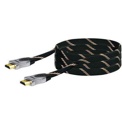 High-Speed HDMI-Flachkabel mit Ethernet Schwarz 1,5 m