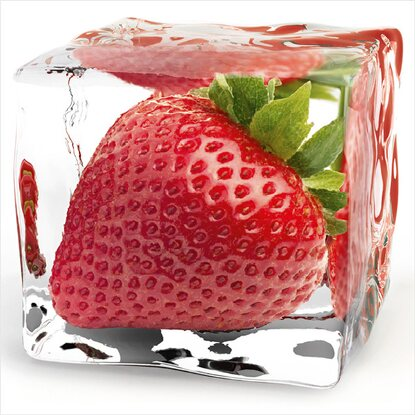 Eurographics Deco Glass Iced Strawberry 20 cm x 20 cm