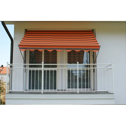 Angerer Klemmmarkise Exklusiv Orange-Braun 150 cm x 350 cm