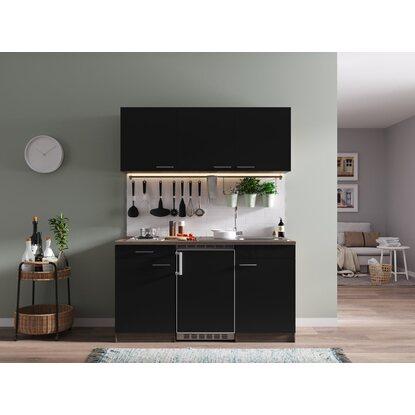 respekta k chenzeile kb150eys 150 cm schwarz eiche york nachbildung kaufen bei obi. Black Bedroom Furniture Sets. Home Design Ideas