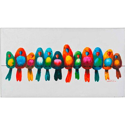 Best of home Bild Bunte Vögel 60 cm x 120 cm