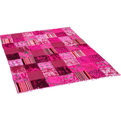 Best of home Patchwork-Decke 130 cm x 180 cm Pink