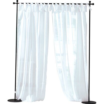 Best of home Schlaufenschal Voile 2er-Set Weiß 140 cm x 250 cm