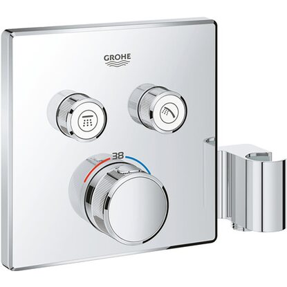 Grohe Thermostat Grohtherm SmartControl 2 Absperrventile Chrom mit Brausehalter
