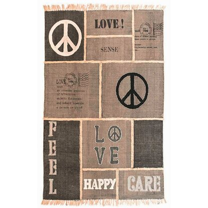 Best of home Teppich Patchwork Love & Peace 140 cm x 200 cm
