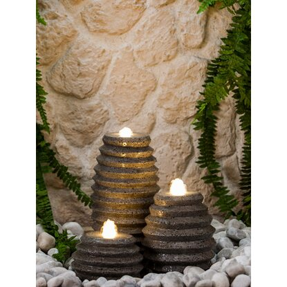 Heissner Steinbrunnen-Set Honey mit LED