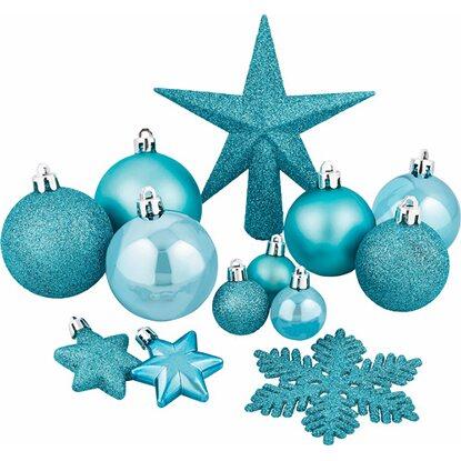 Obi baumschmuck komplett set 100 teilig inklusive lichterkette eisblau kaufen bei obi - Obi weihnachtskugeln ...