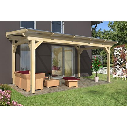 skan holz terrassen berdachung sanremo b x t 541 cm x 300 cm leimholz natur kaufen bei obi. Black Bedroom Furniture Sets. Home Design Ideas
