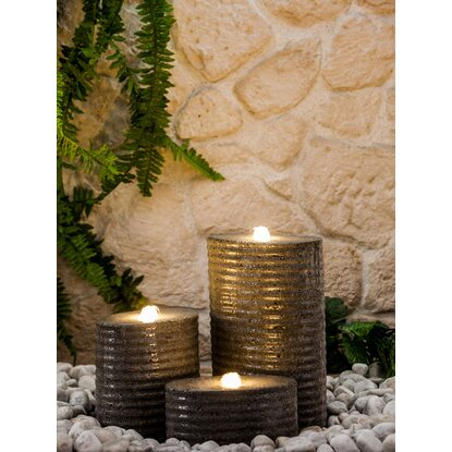 Heissner Gartenbrunnen-Set Chicago LED