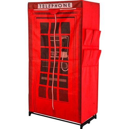 Best of home Kleiderschrank Telephone 157 cm x 87 cm x 45 cm Rot