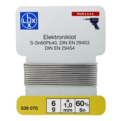 LUX Elektroniklot 6 g Ø 1 mm