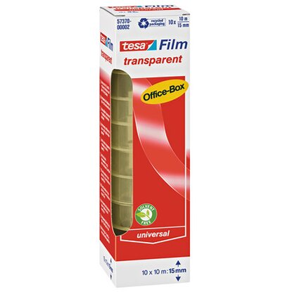Tesa Film Transparent Office Box 10 Rollen
