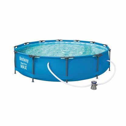 Steel Pro Max Frame Pool-Set, rund, 366 x 76 cm