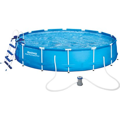 Bestway stahlrahmen swimming pool set 457 cm x 91 cm for Swimming pools bei obi