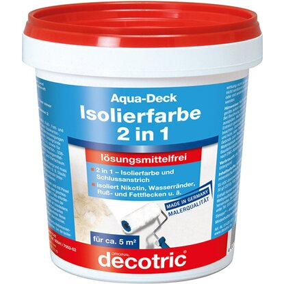 Decotric Aqua-Deck Isolierweiß 750 ml