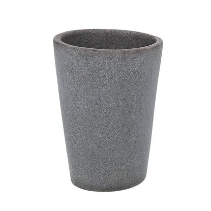 Wenko Zahnputzbecher Pebble Stone Grey Polyresin