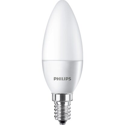 Philips LED-Leuchtmittel EEK: A+ Kerzenform E14/5,5 W (470 lm) Warmweiß 2er-Pack