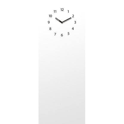 Eurographics Memoboard Time Board White Clock 30 cm x 80 cm