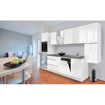 respekta k chenzeile ohne e ger te 330 cm wei hochglanz kaufen bei obi. Black Bedroom Furniture Sets. Home Design Ideas