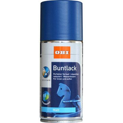 OBI Buntlack Spray Enzianblau matt wv 150 ml