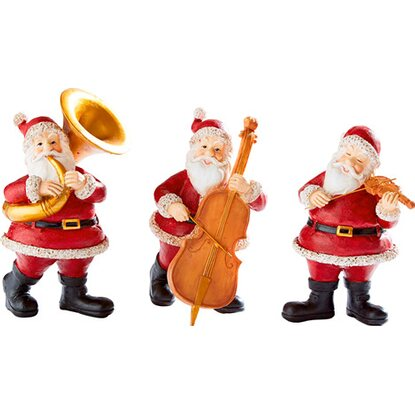 Best of home Dekofiguren-Set Musizierende Santas 3-teilig