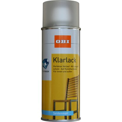 OBI Klarlack Spray Transparent seidenmatt 400 ml